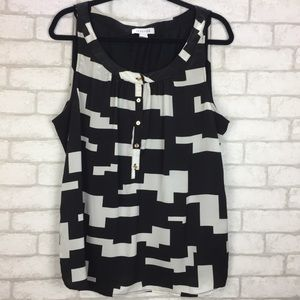 Kenneth Cole 2X Black-White Top
